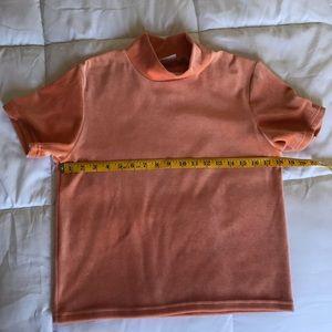 Vintage Tops - pricefirm Vintage Orange Velvety Turtleneck Top